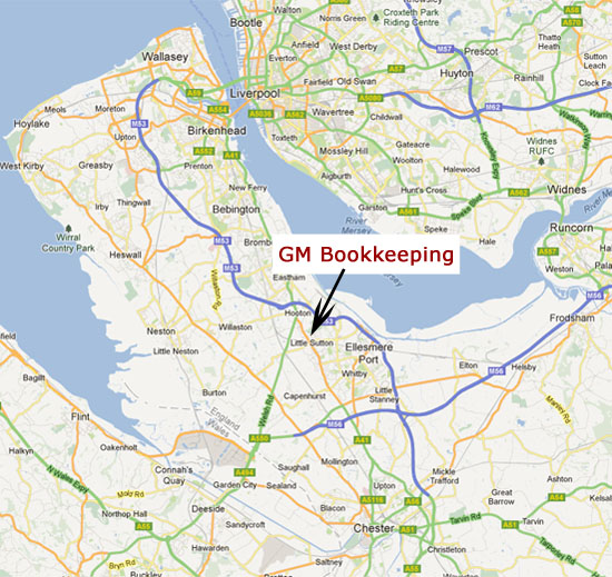 Contact GM Bookkeeping Ellesmere Port Wirral Chester Bookkeeper